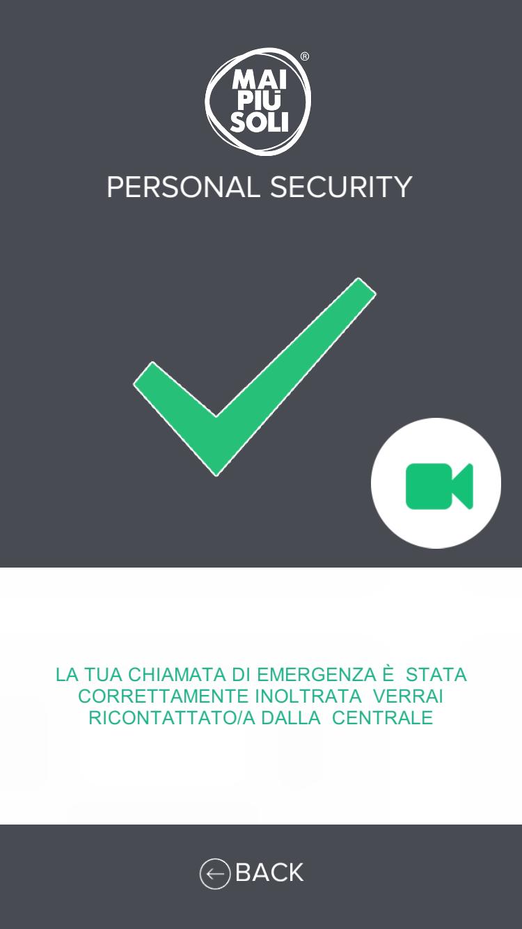 EMERGENZA ESITO POSITIVO COORDINATE INVIATE