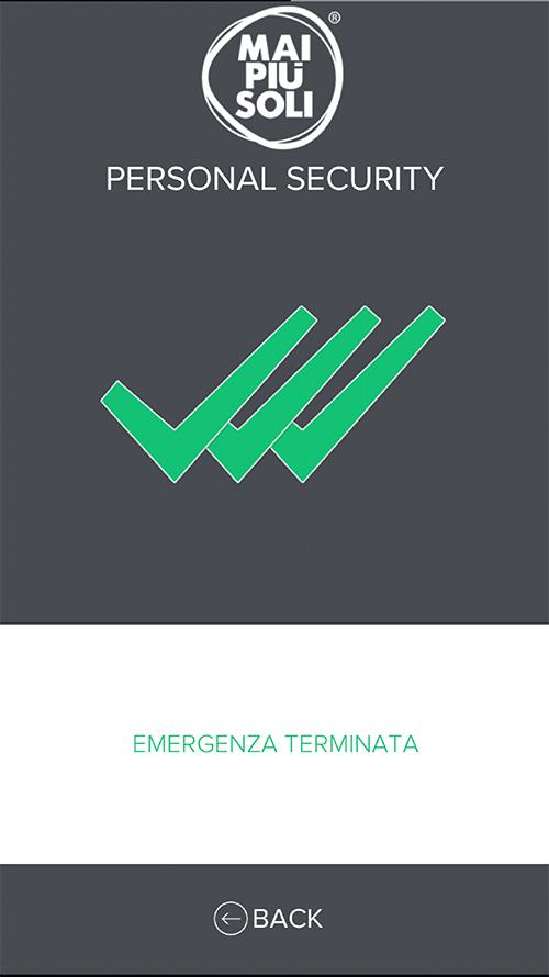 EMERGENZA TERMINATA